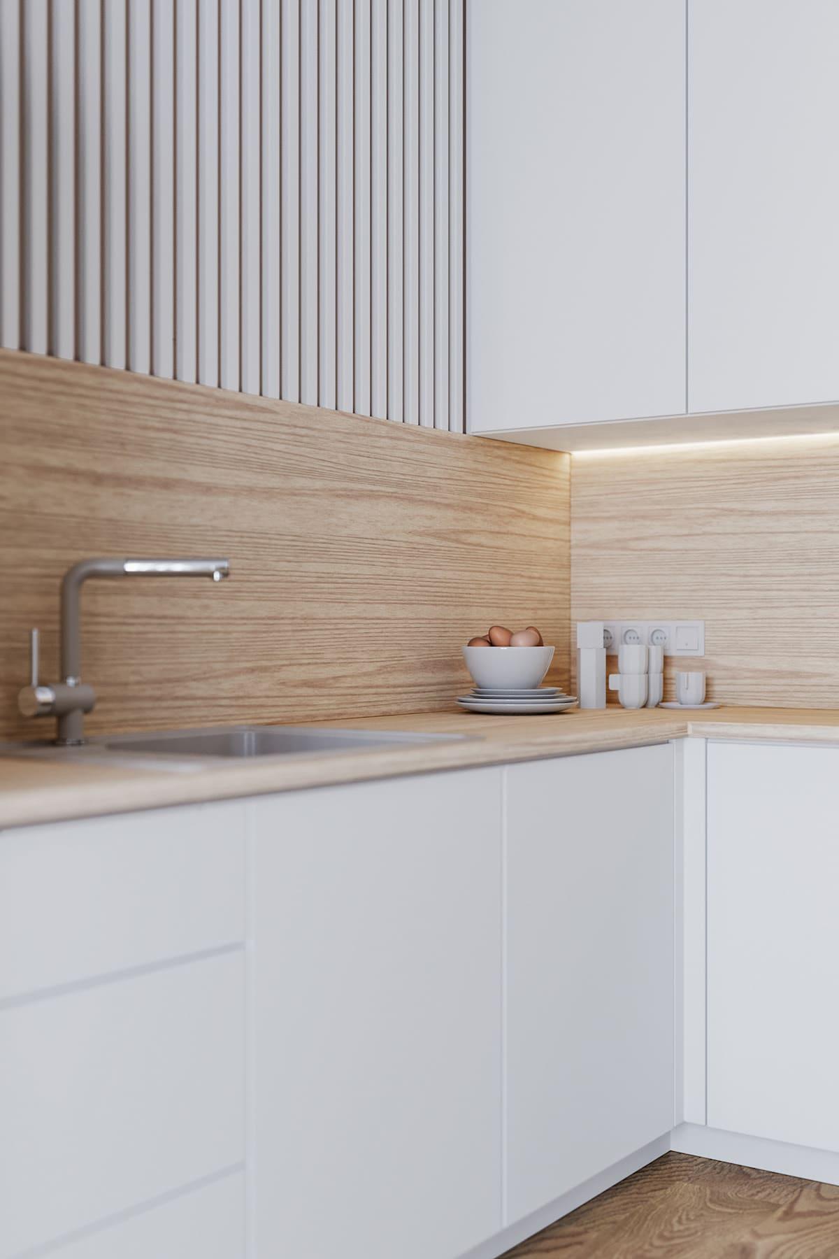 белая кухня фото 43