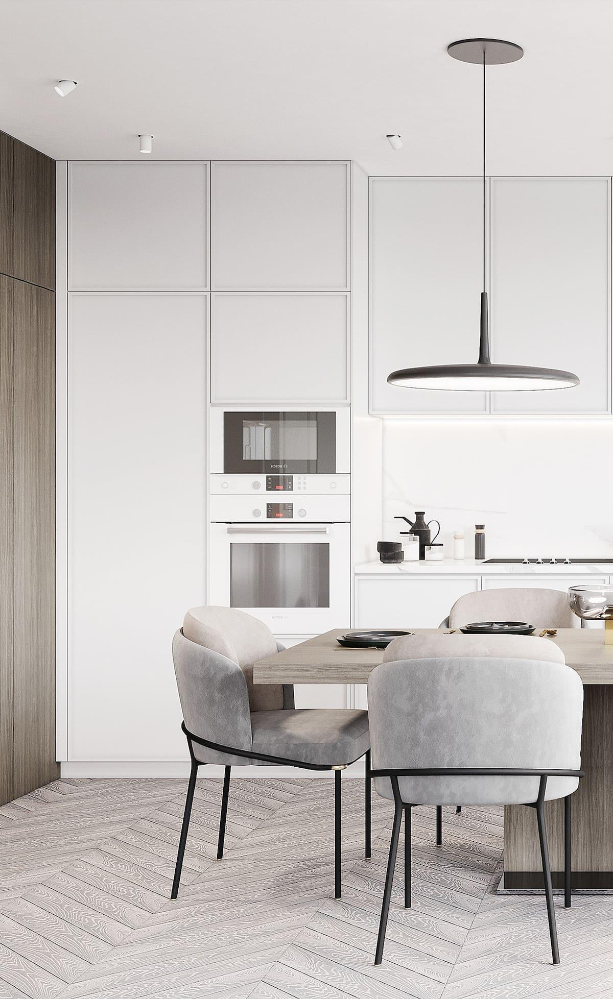белая кухня фото 38