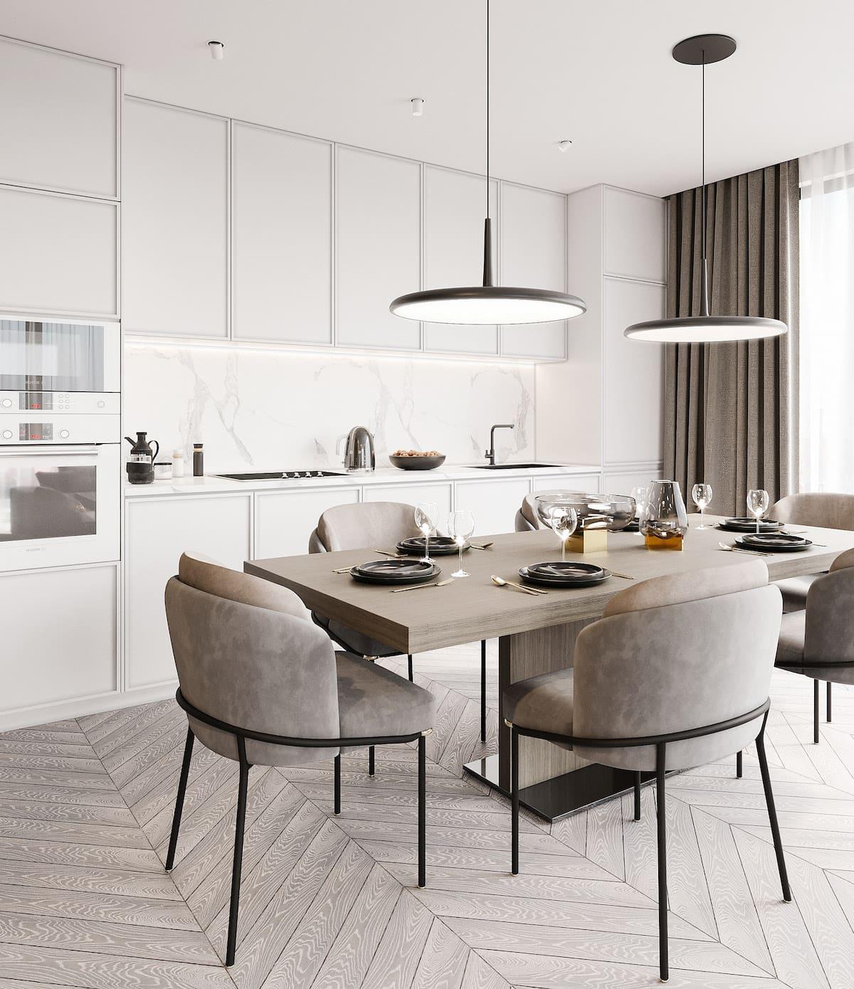 белая кухня фото 40