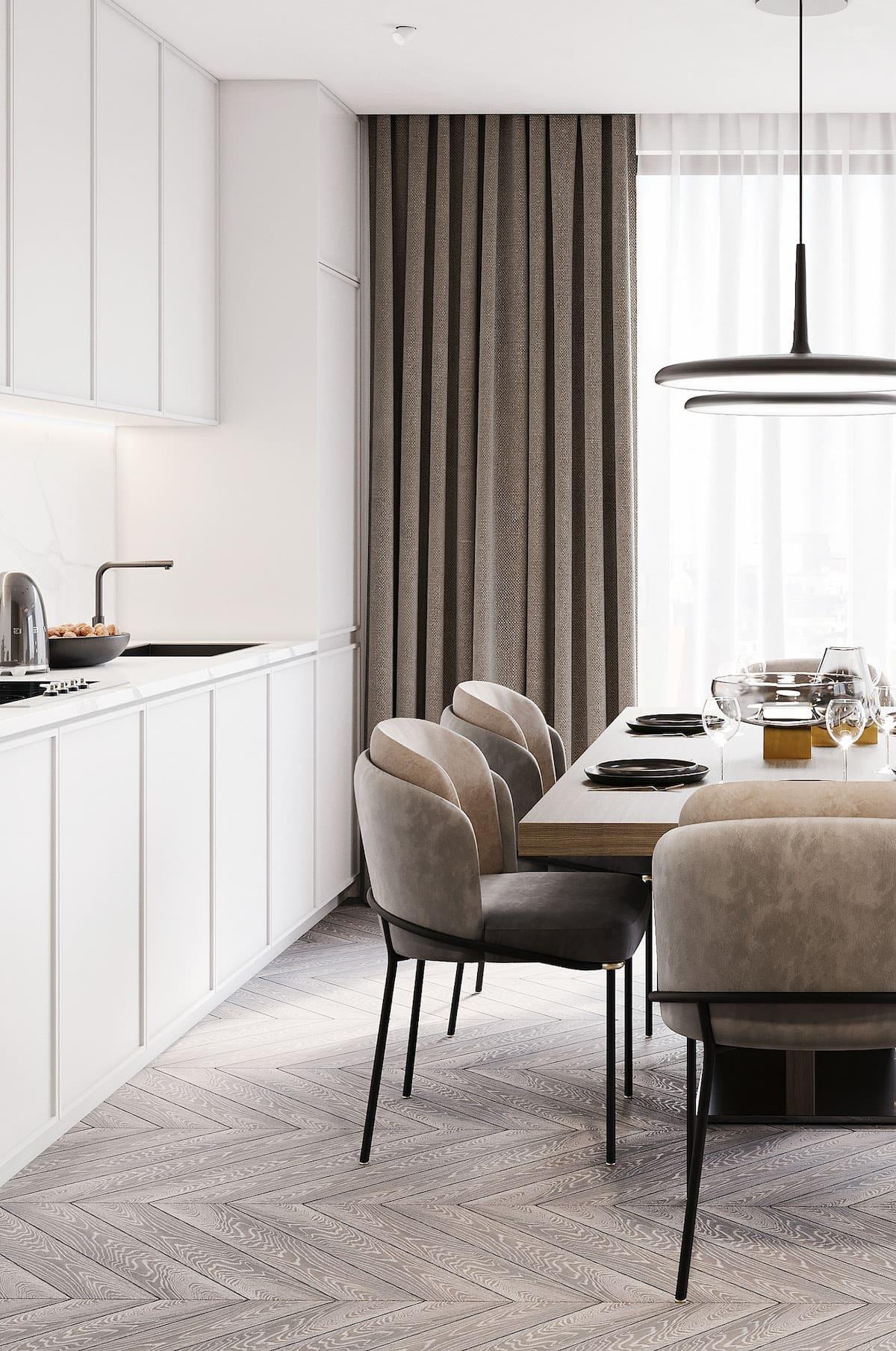 белая кухня фото 41