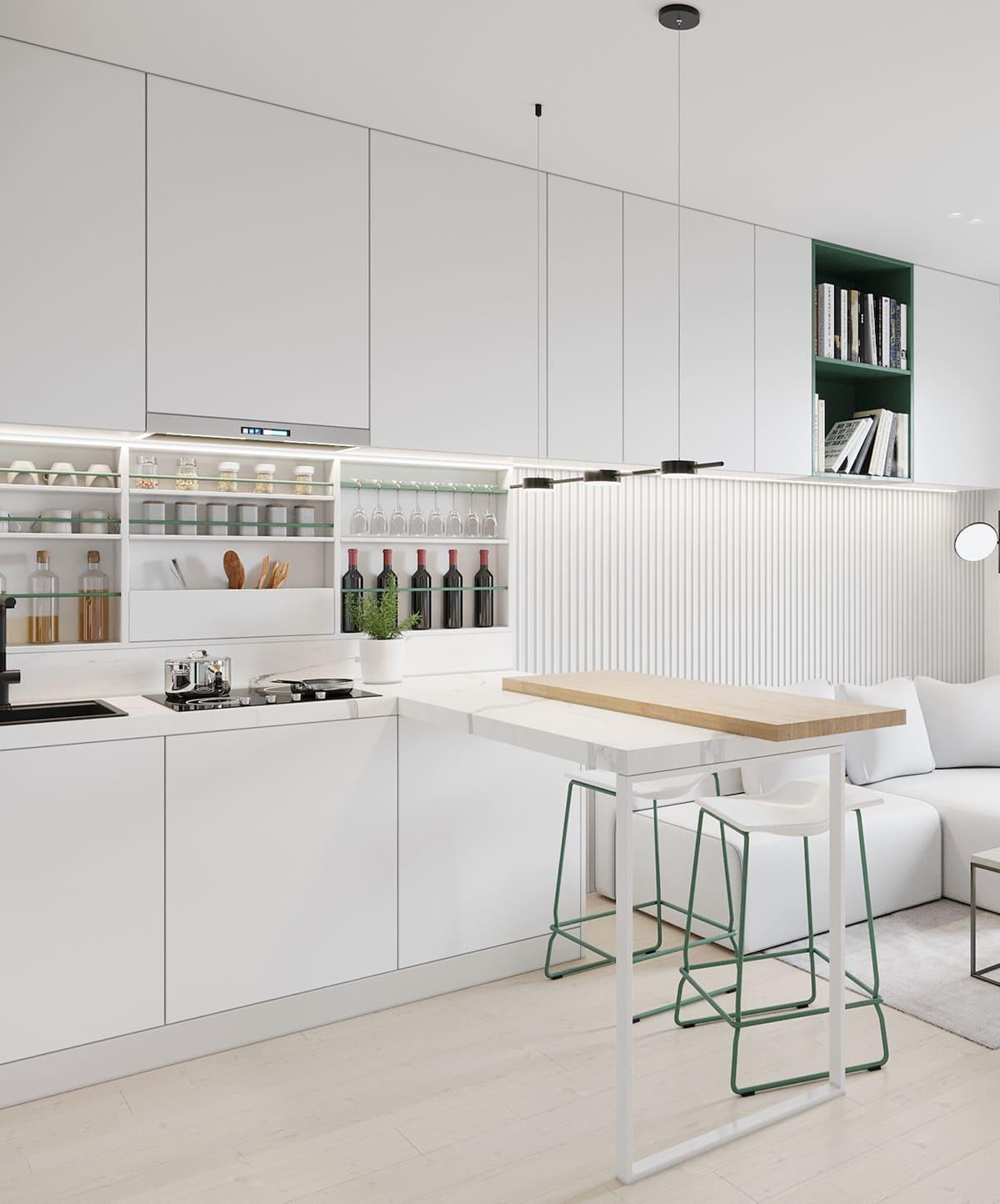 белая кухня фото 58