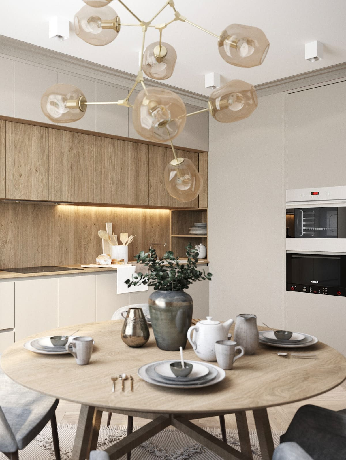 белая кухня фото 29