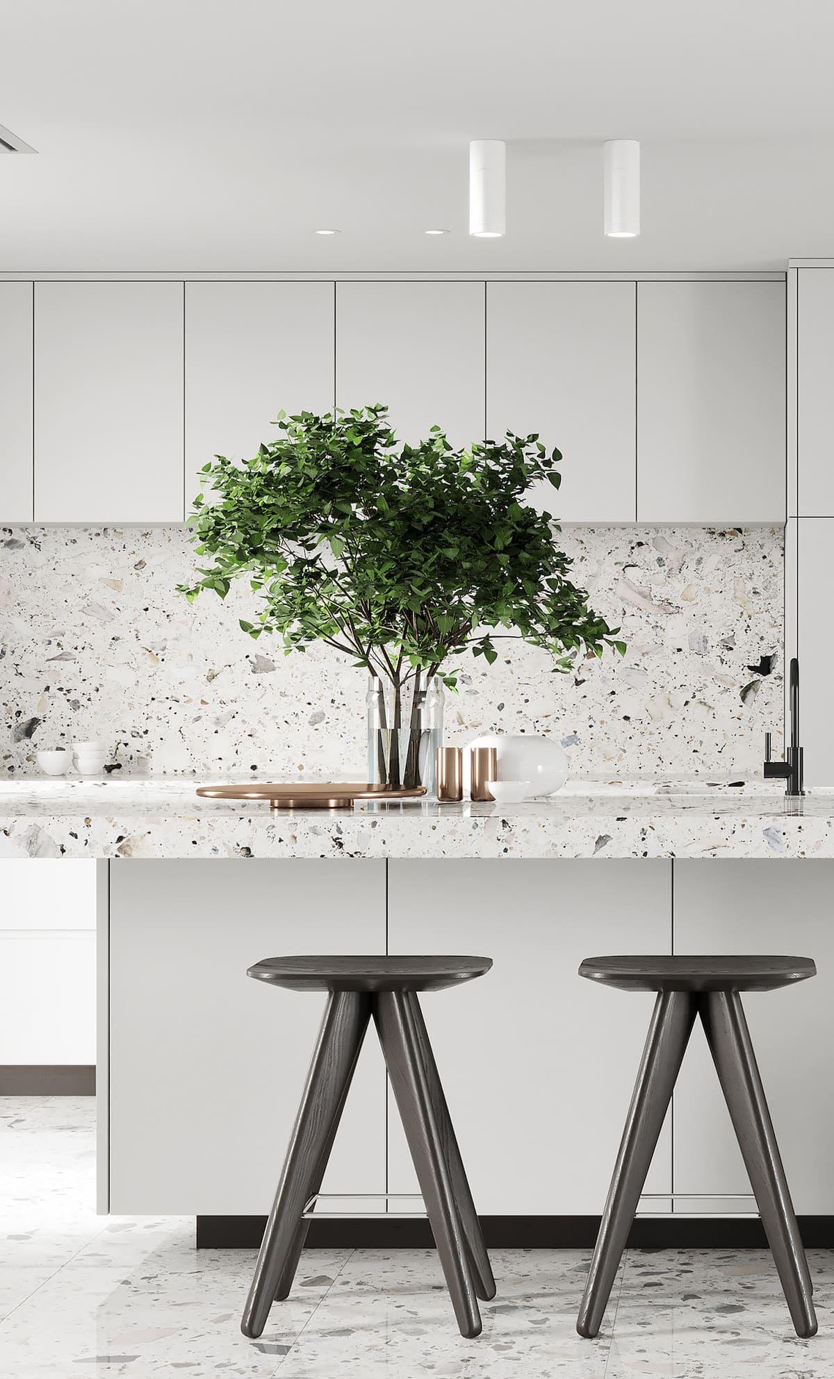 белая кухня фото 23