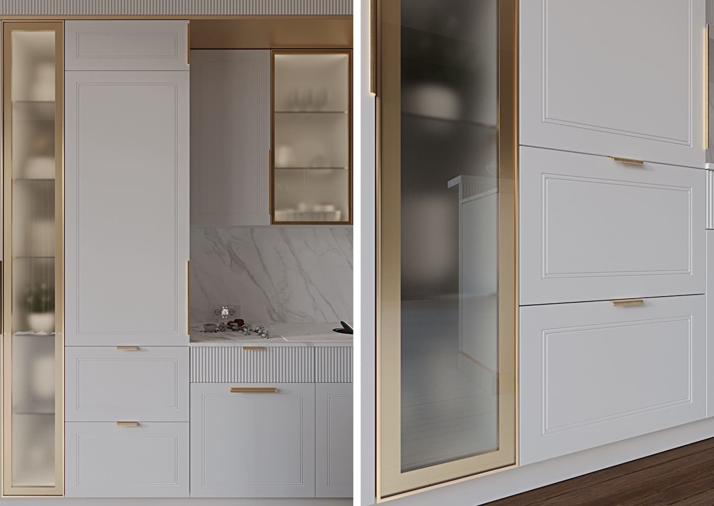белая кухня фото 52