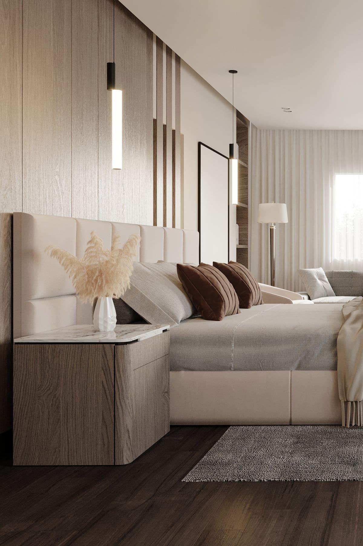 спальня в современном стиле фото 45