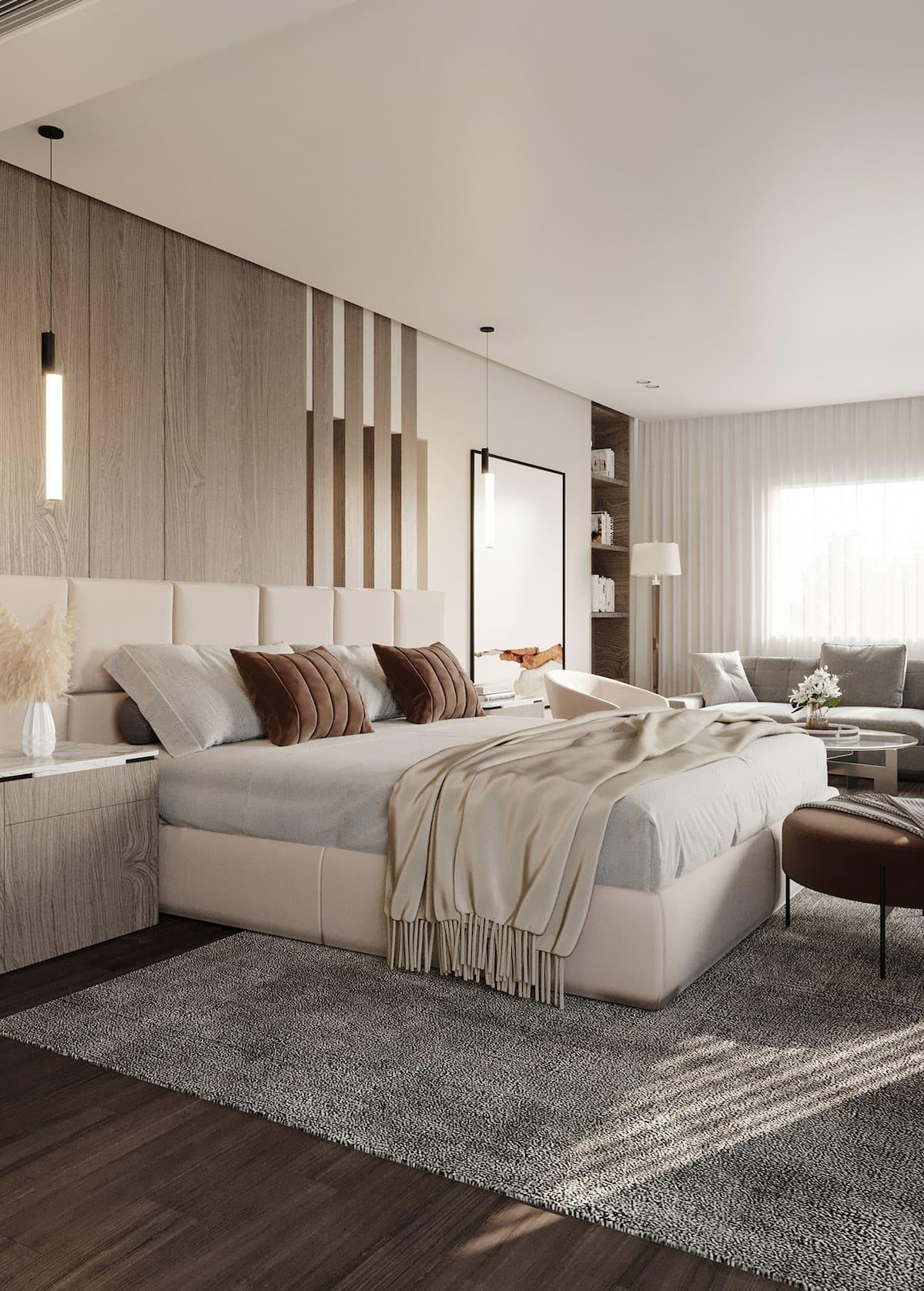 спальня в современном стиле фото 46