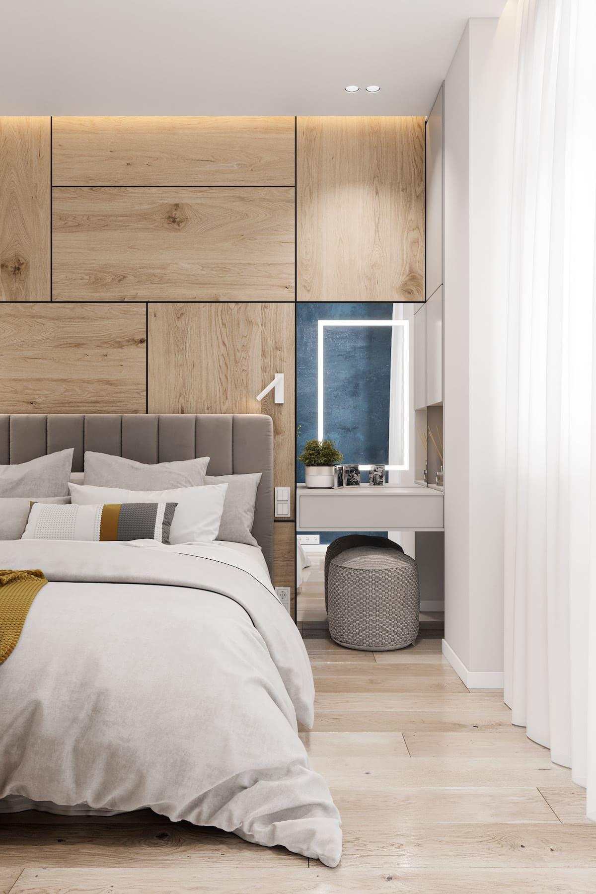спальня в современном стиле фото 36