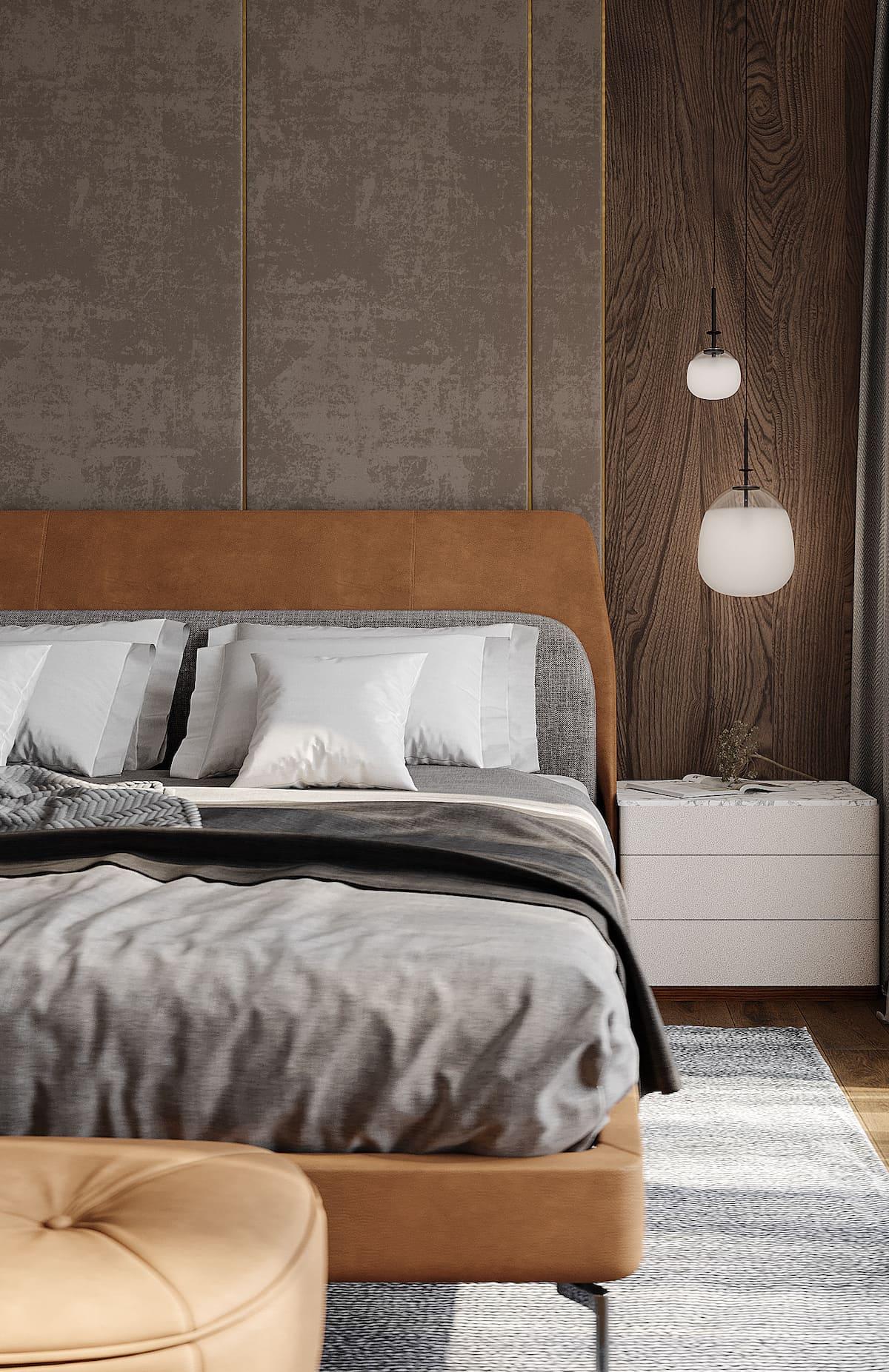 спальня в современном стиле фото 75