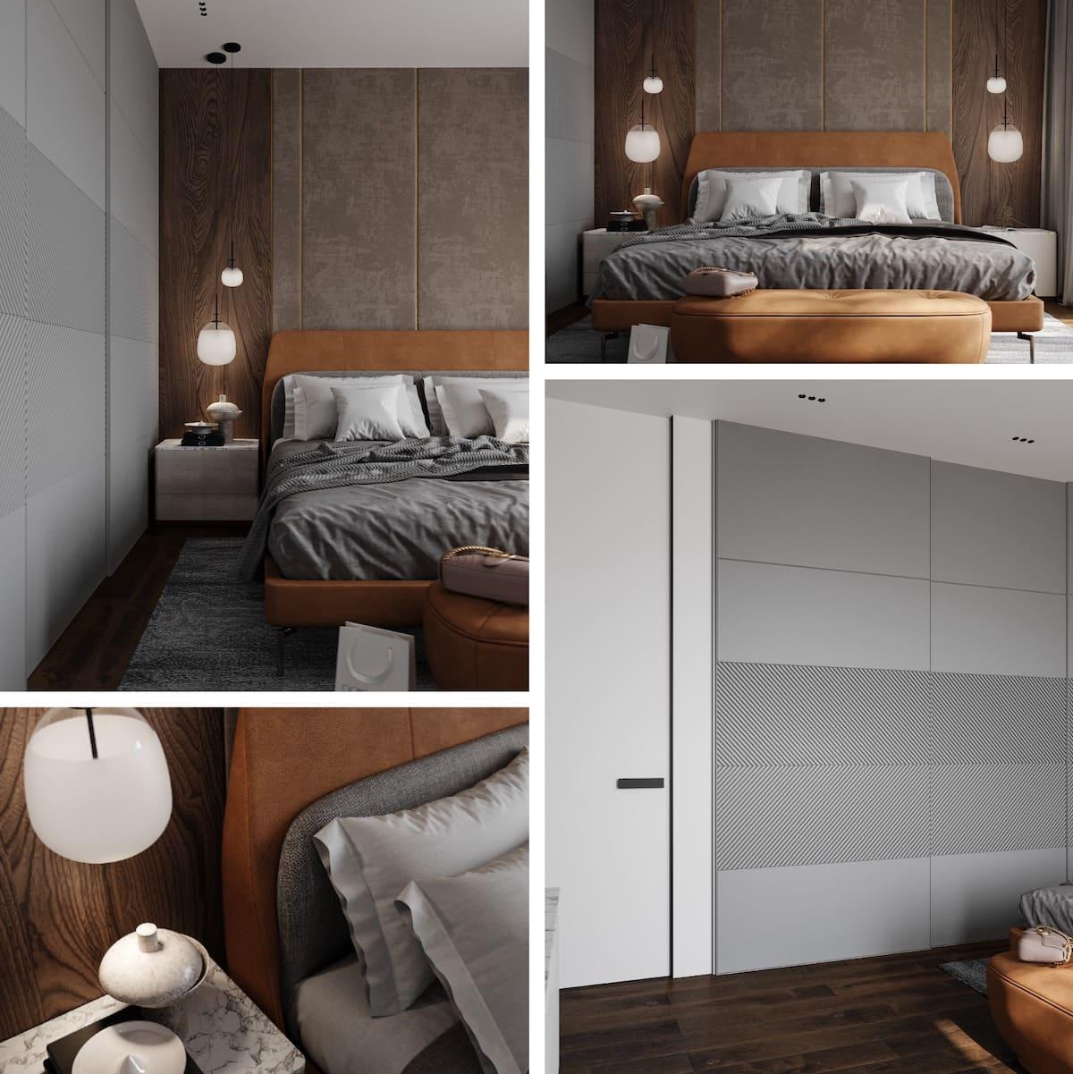 спальня в современном стиле фото 76