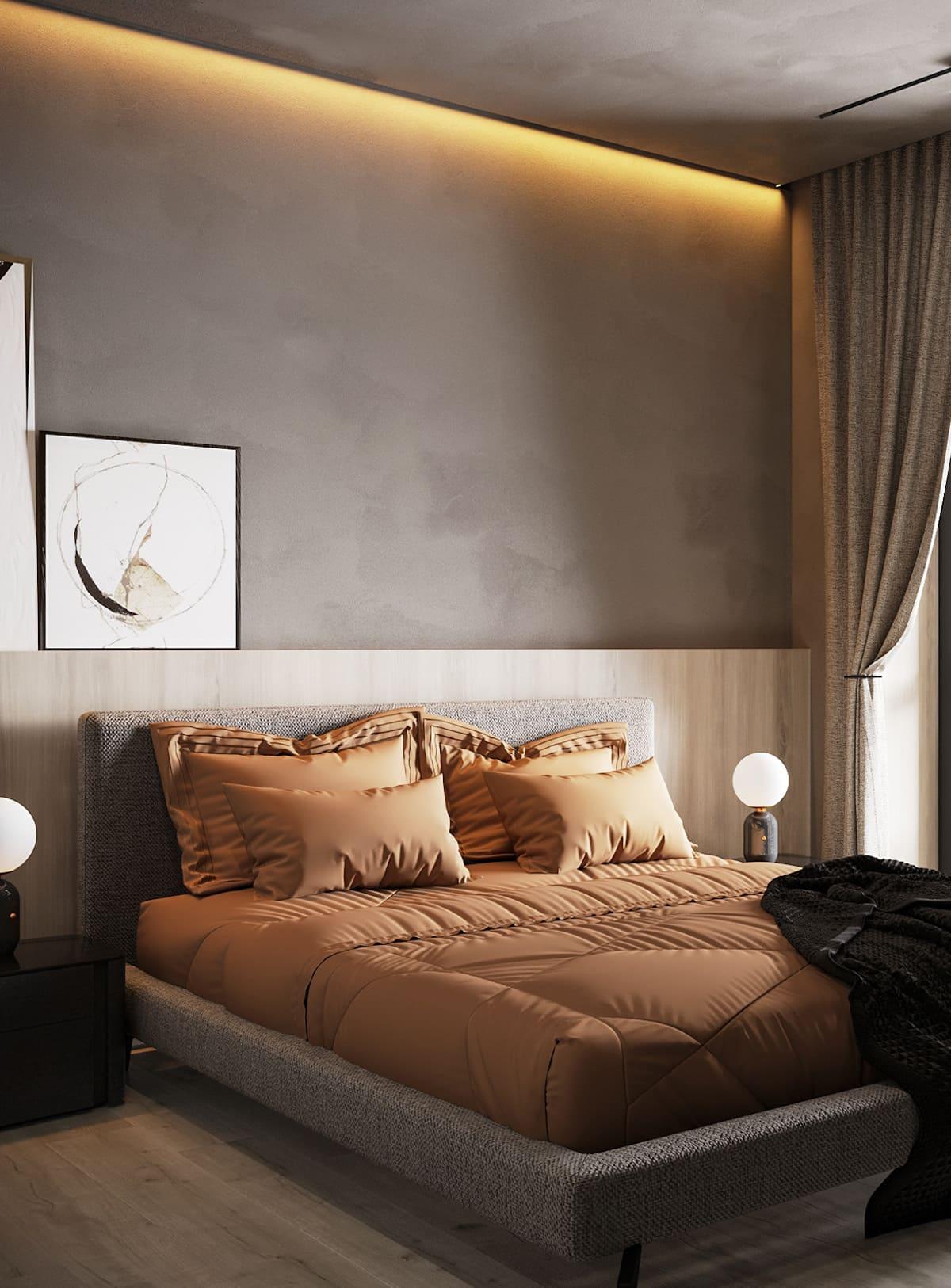 спальня в современном стиле фото 5