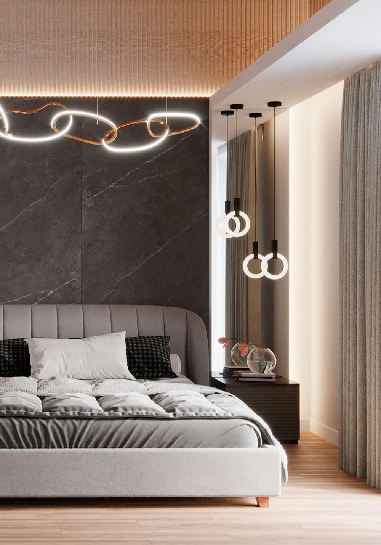 спальня в современном стиле фото 28