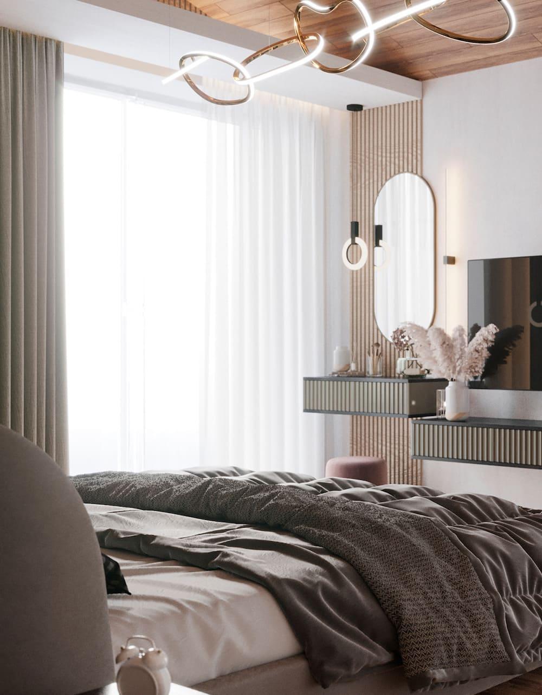 спальня в современном стиле фото 29