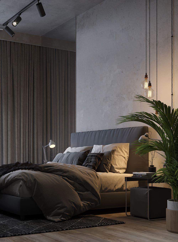спальня в современном стиле фото 56