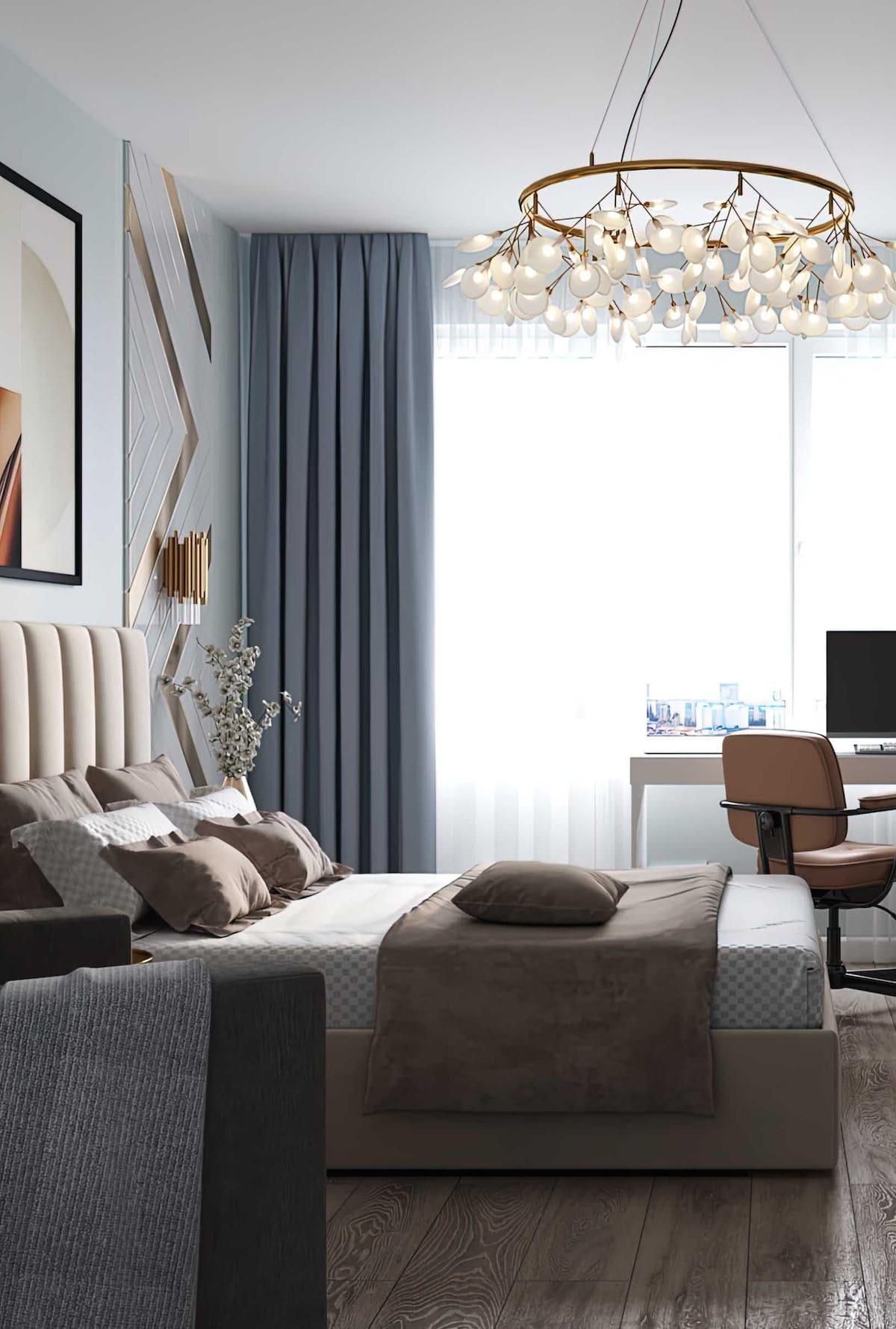 спальня в современном стиле фото 33