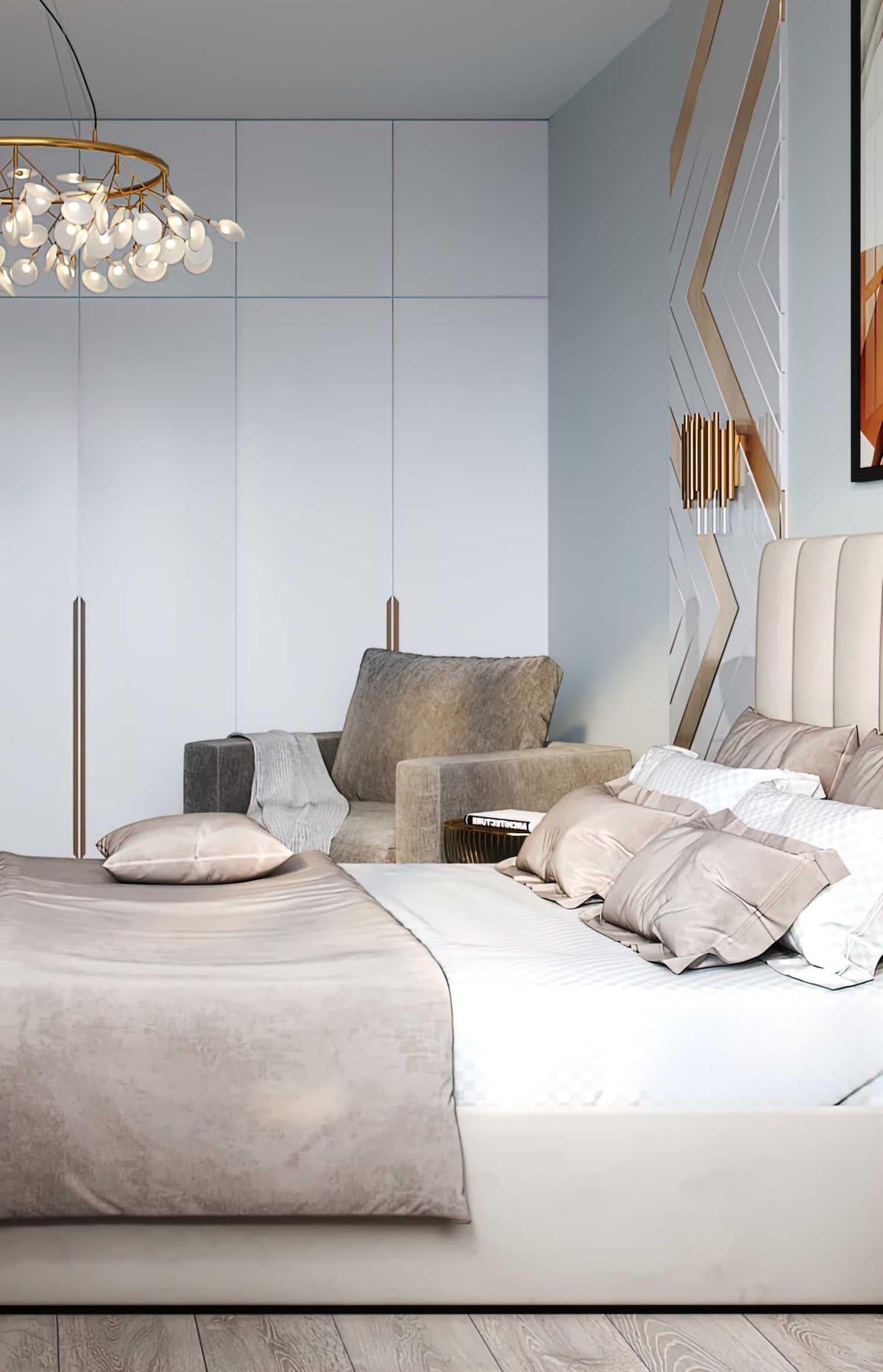 спальня в современном стиле фото 34