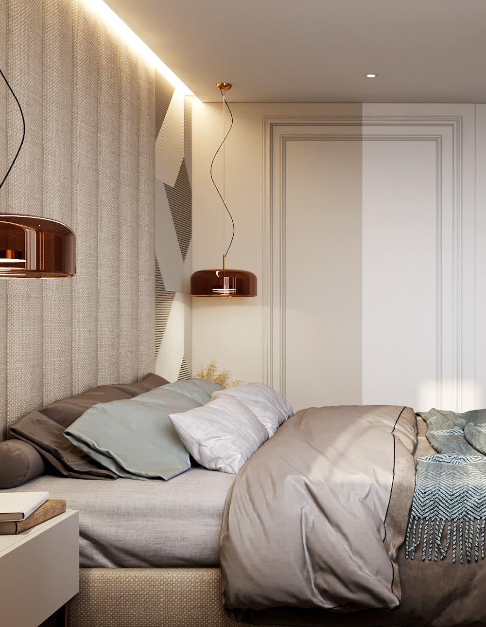 спальня в современном стиле фото 19