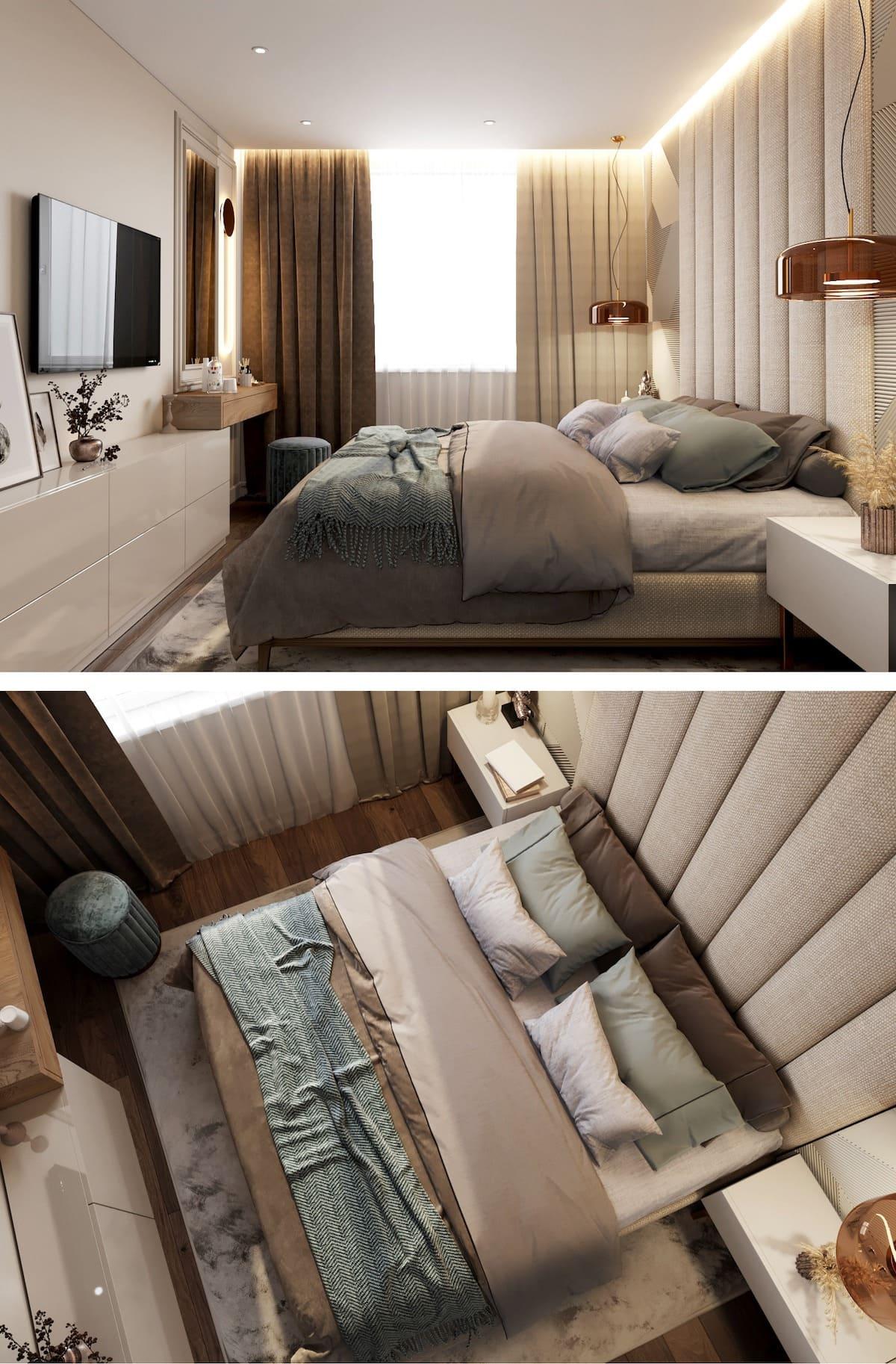 спальня в современном стиле фото 22