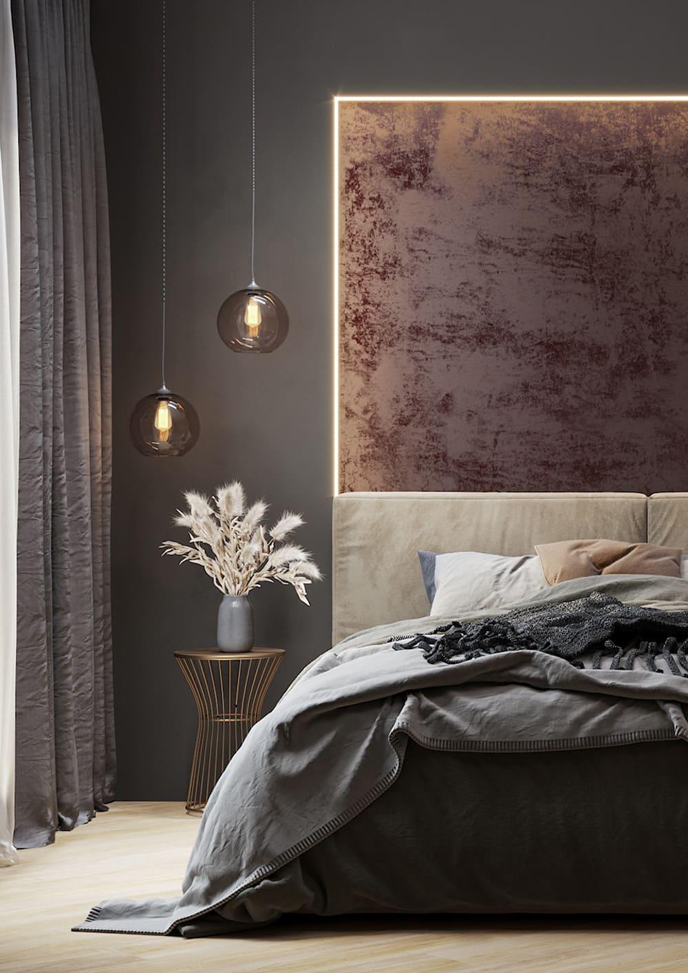 спальня в современном стиле фото 51