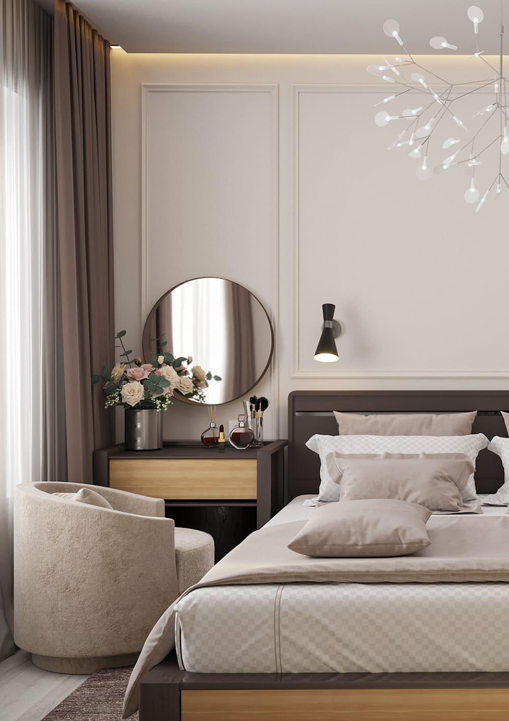 спальня в современном стиле фото 23