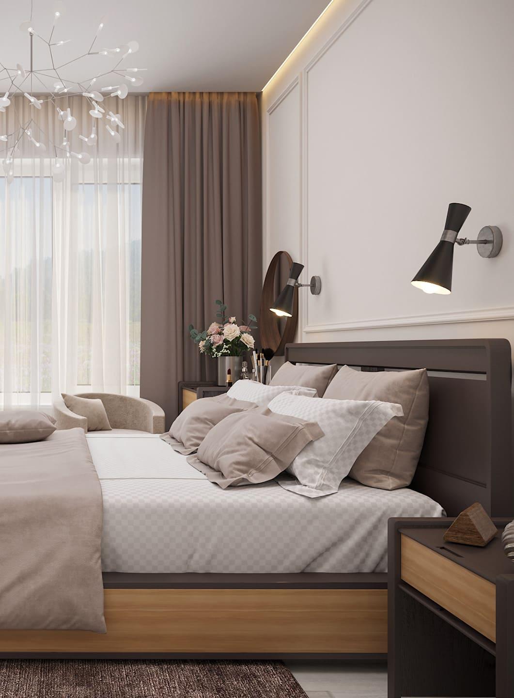 спальня в современном стиле фото 24