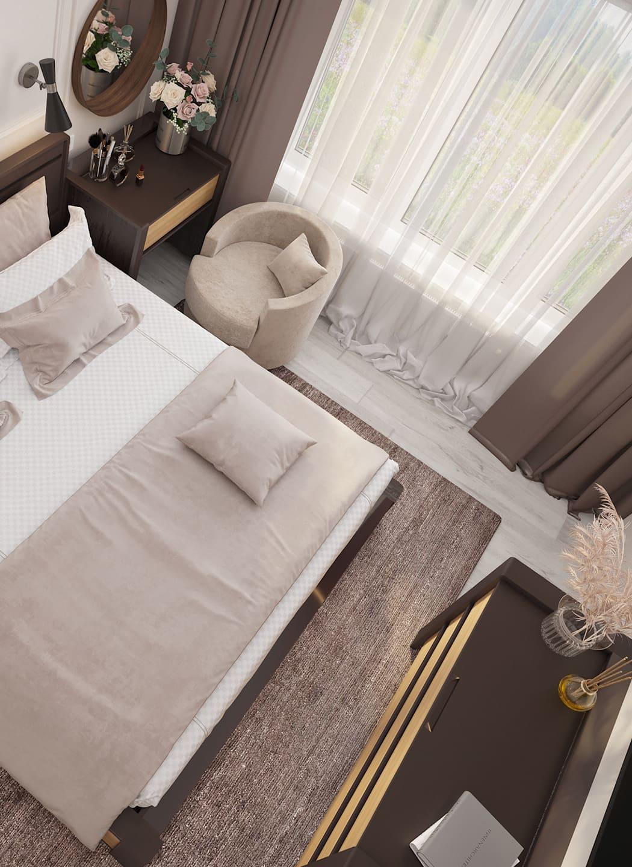 спальня в современном стиле фото 25