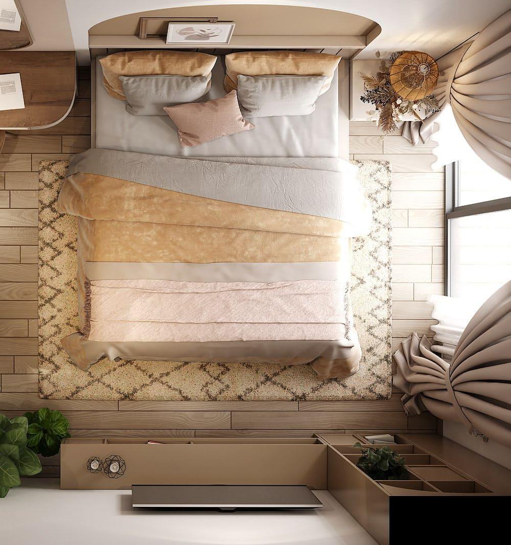 спальня в современном стиле фото 39