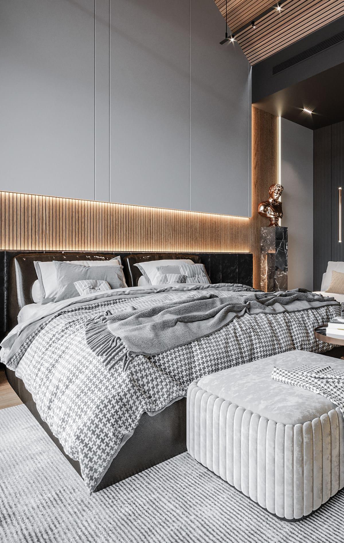 спальня в современном стиле фото 47