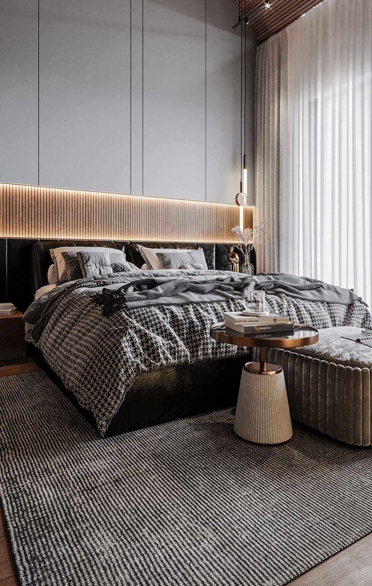 спальня в современном стиле фото 48