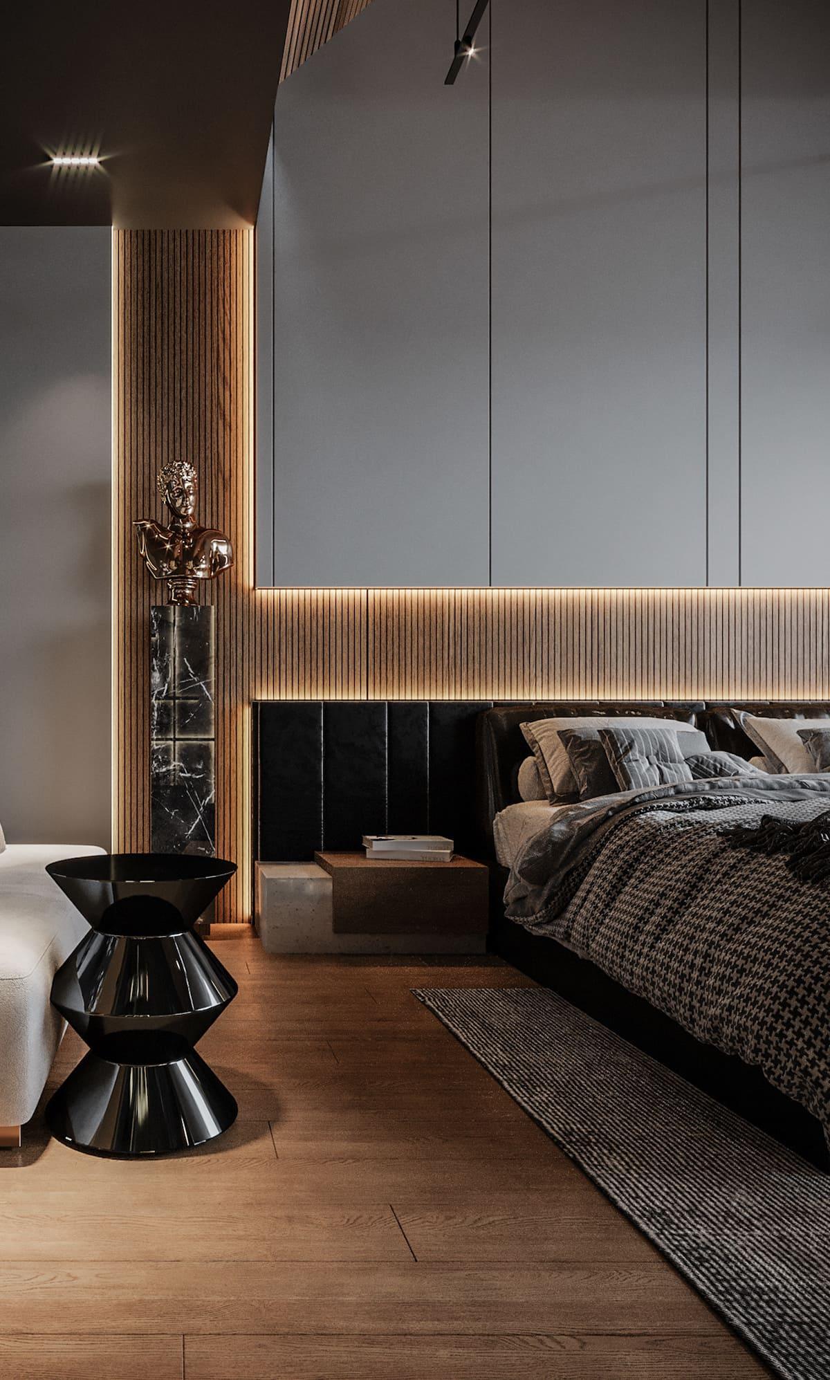 спальня в современном стиле фото 49