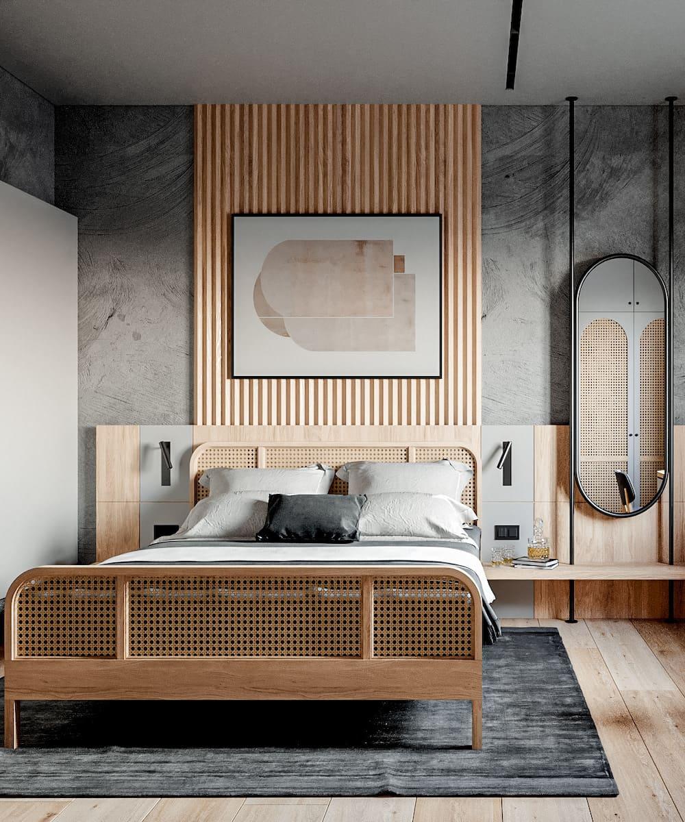 спальня в современном стиле фото 41