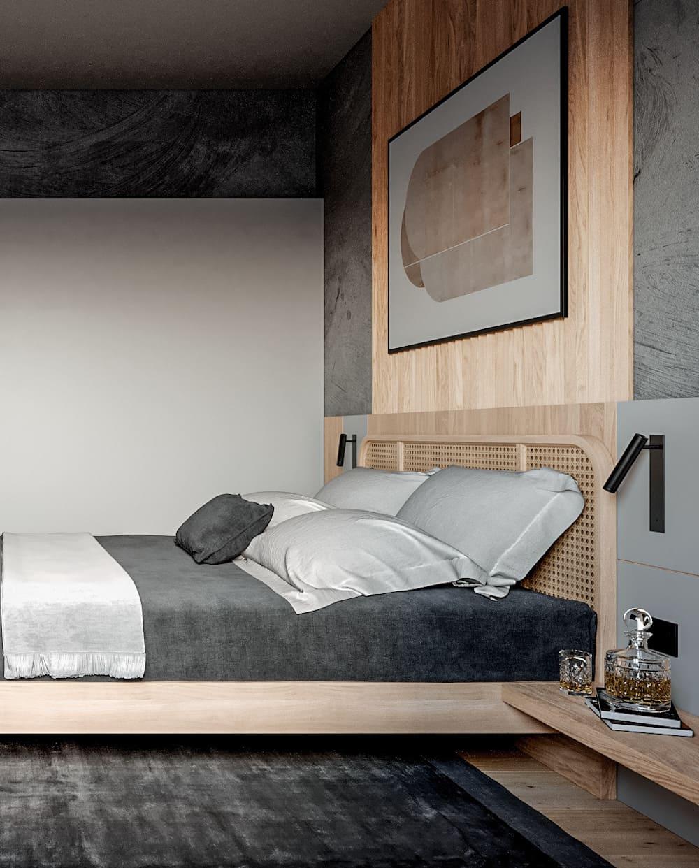 спальня в современном стиле фото 43