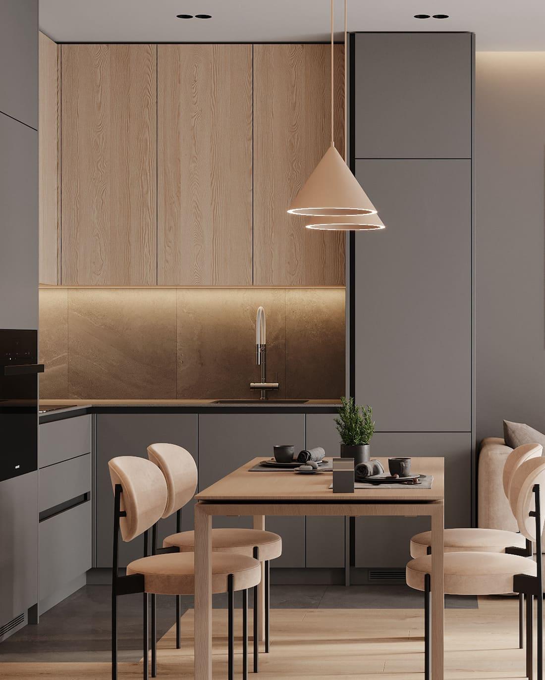 дизайн кухни в современном стиле фото 1