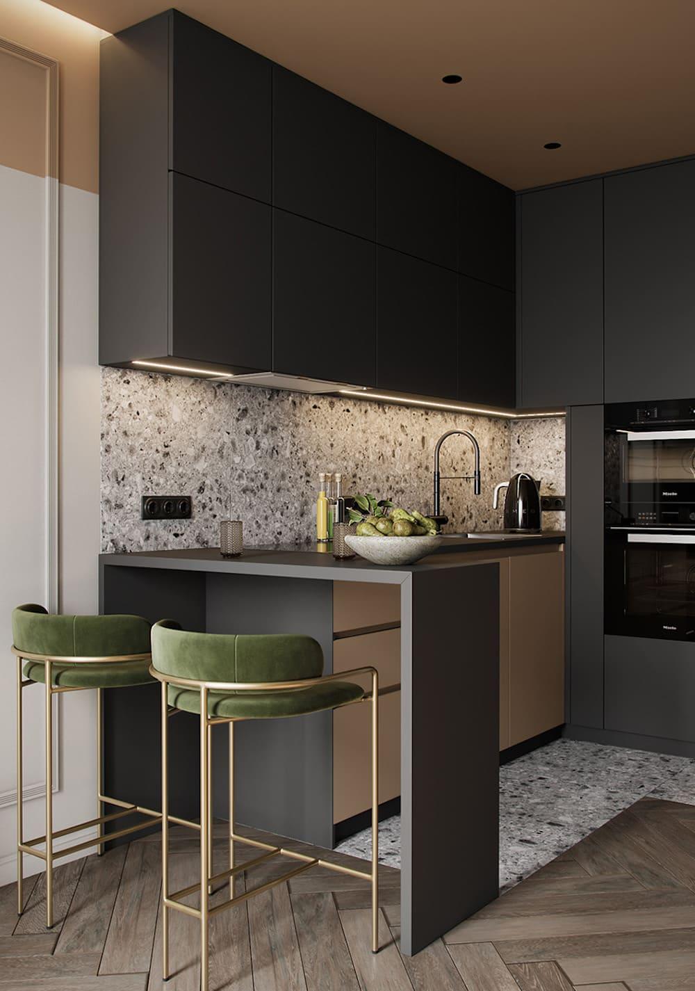 дизайн кухни в современном стиле фото 10