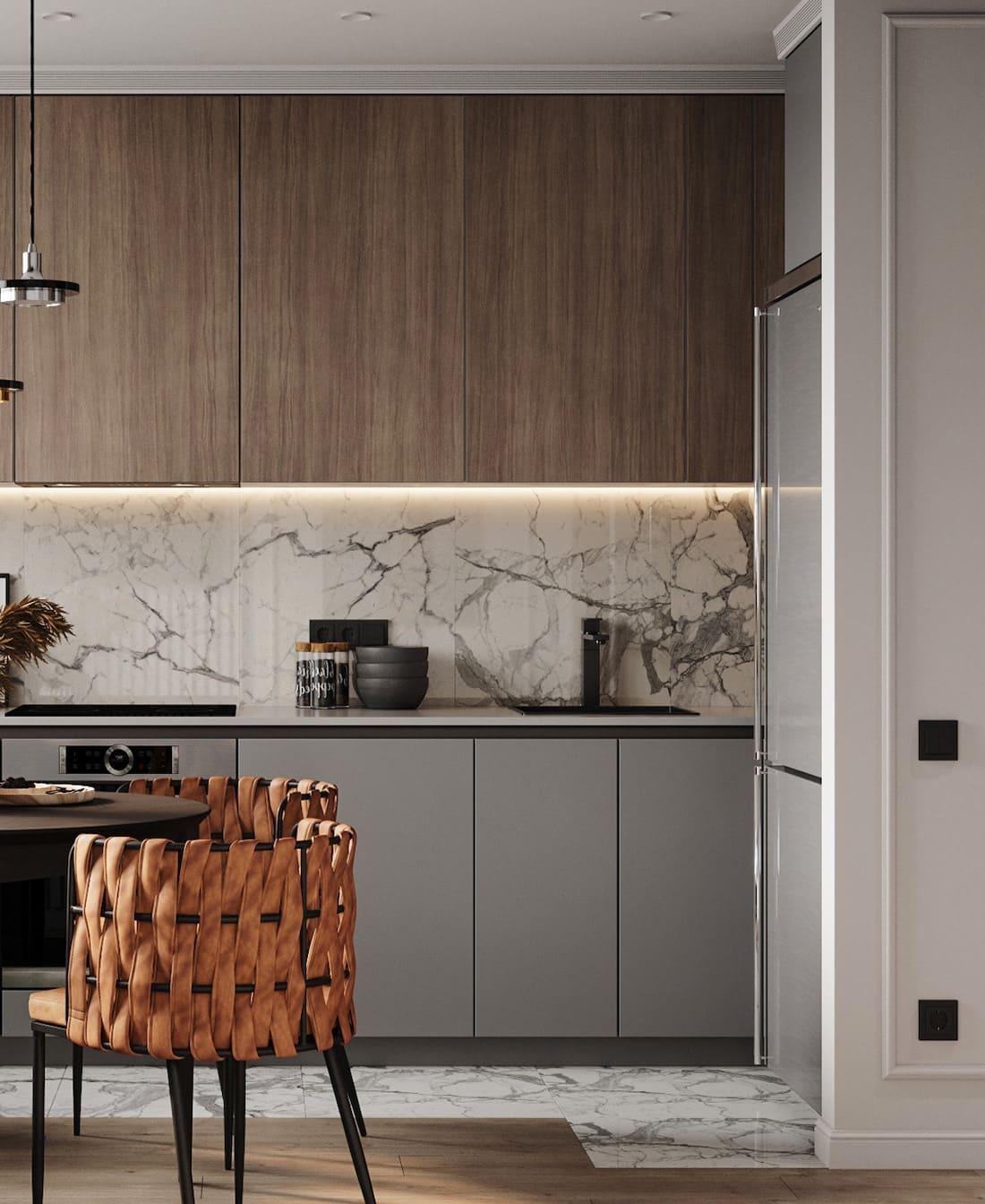 дизайн кухни в современном стиле фото 33