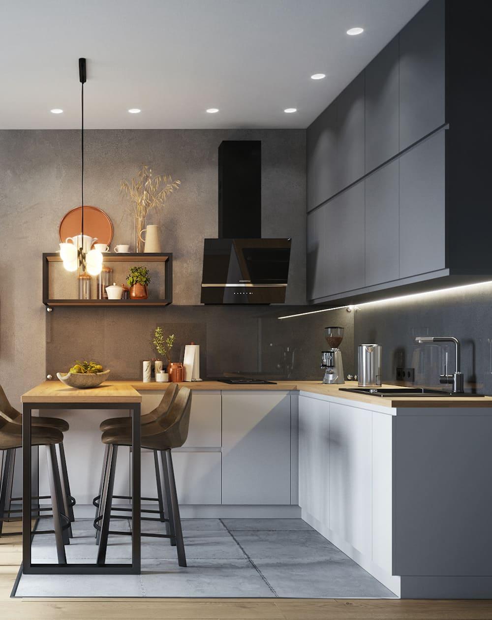 дизайн кухни в современном стиле фото 90
