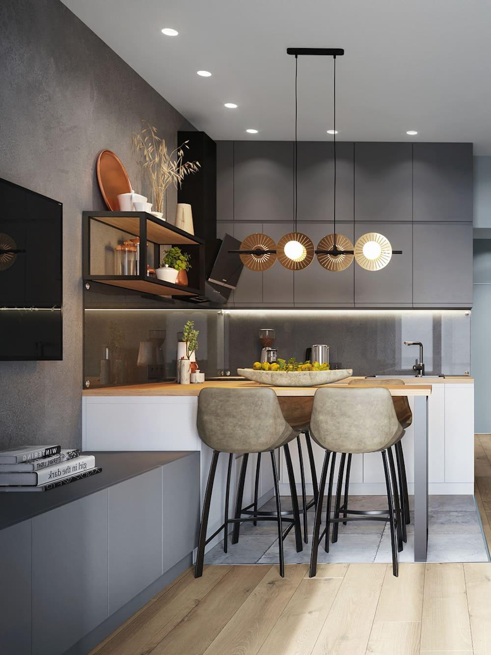 дизайн кухни в современном стиле фото 91