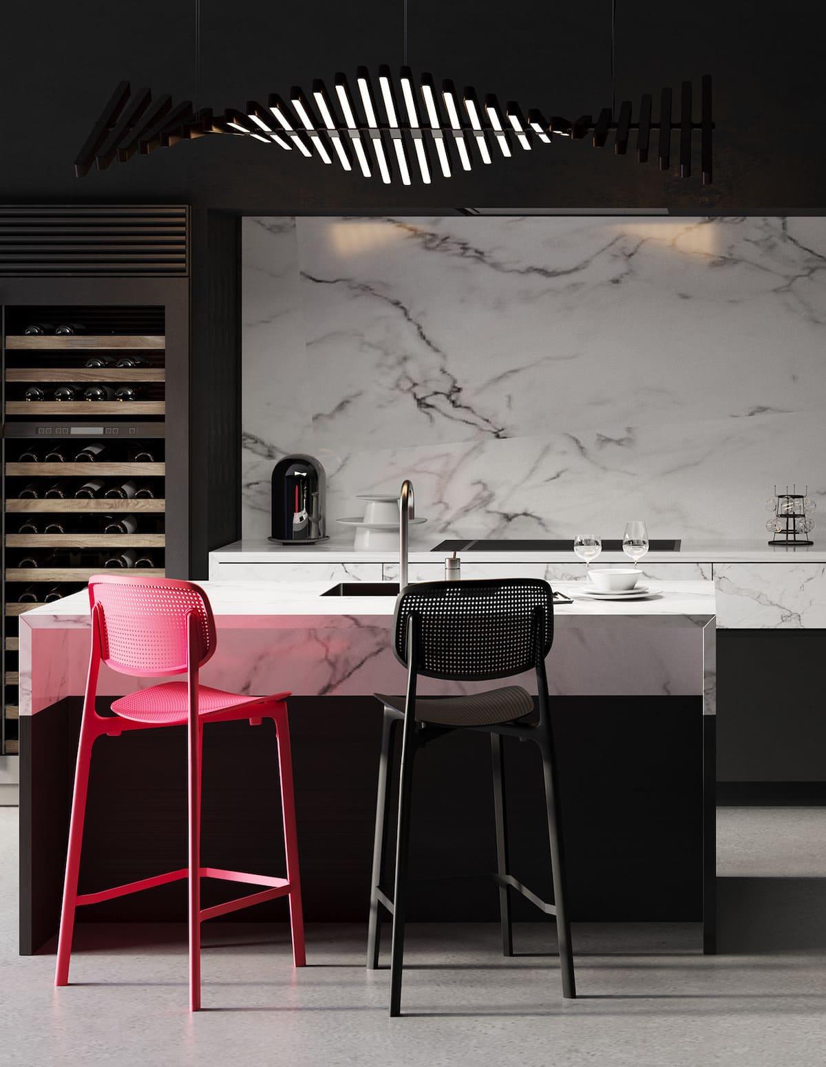 черно-белая кухня фото 20
