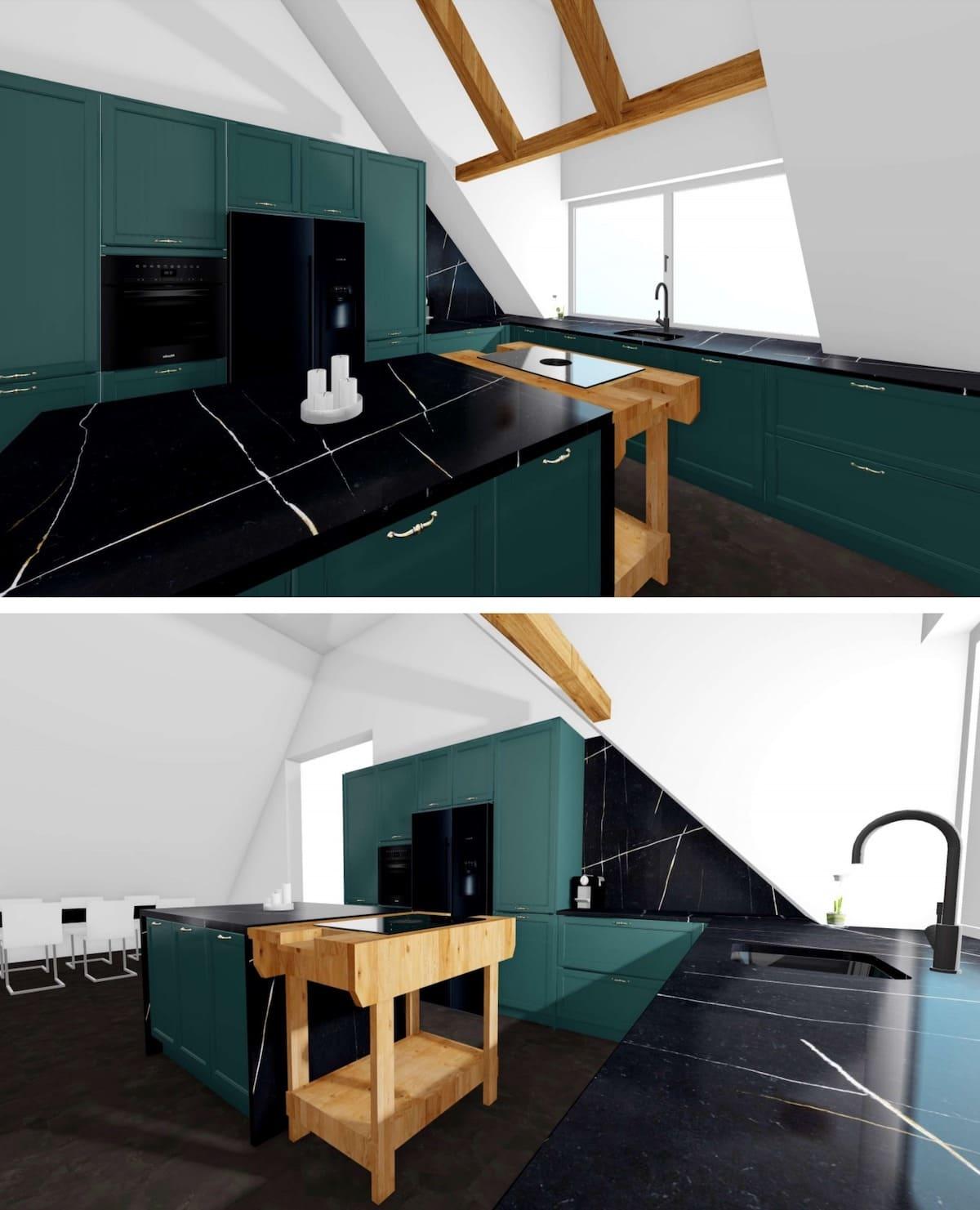 черно-белая кухня фото 23