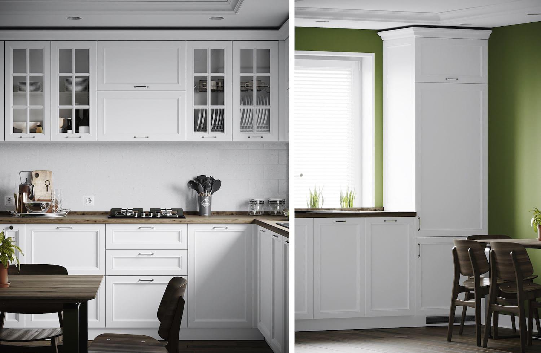 черно-белая кухня фото 24