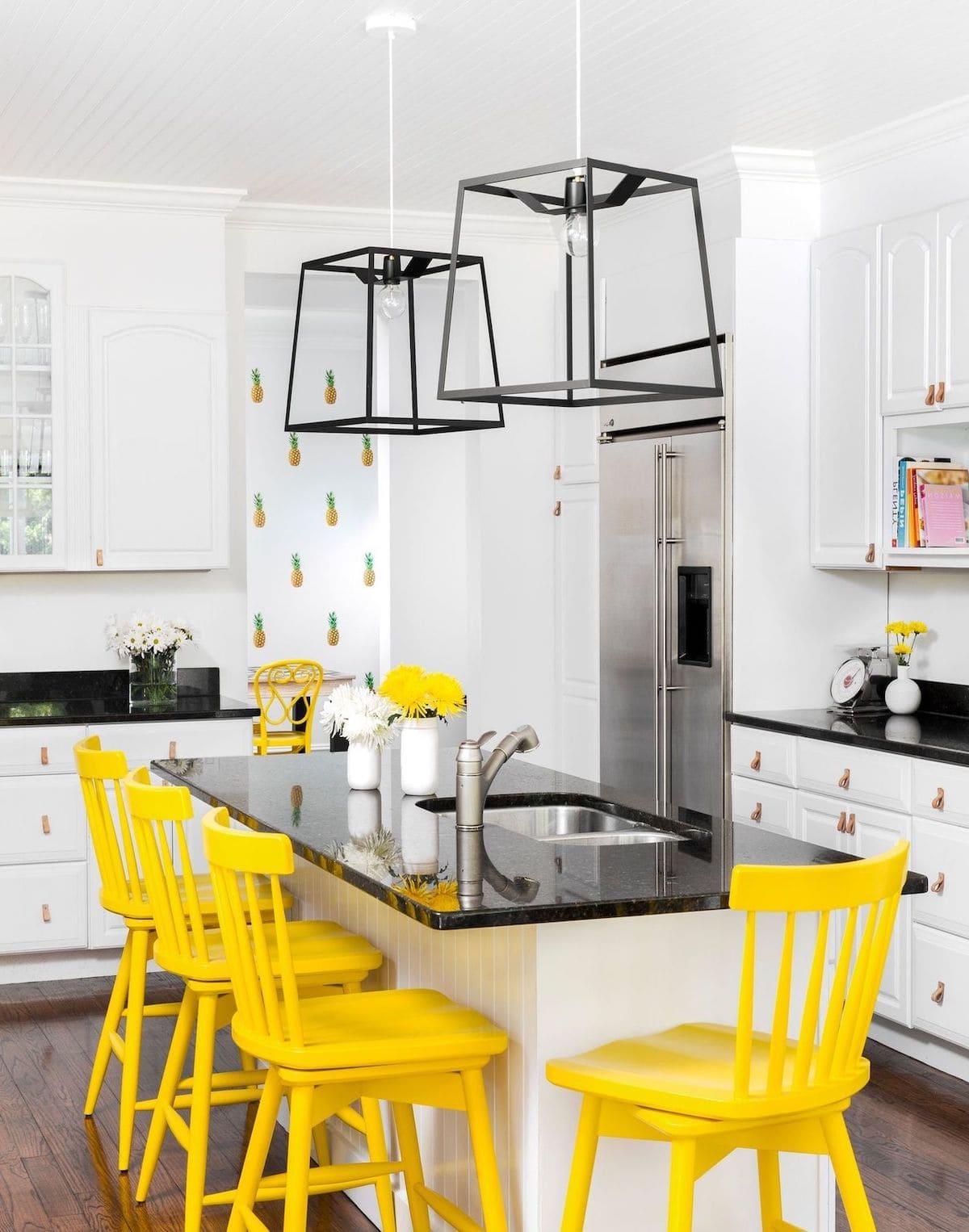 черно-белая кухня фото 25