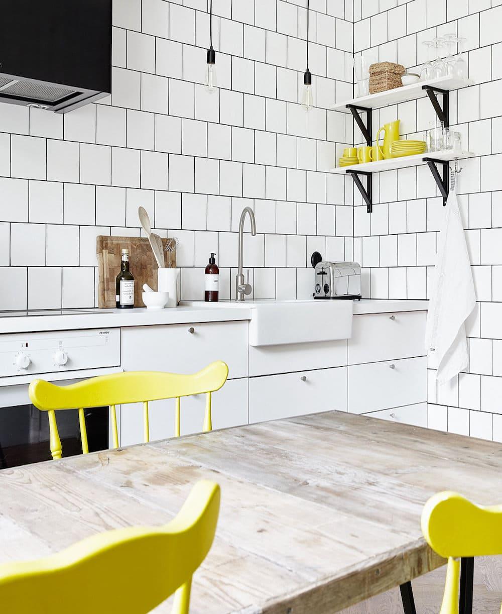 черно-белая кухня фото 26